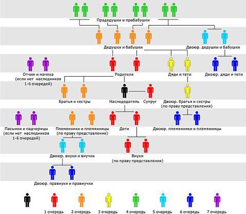 Оформление наследства: Наследование по закону