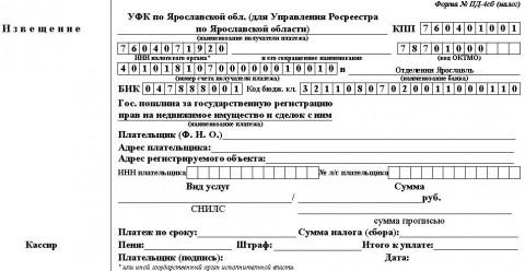 Оплата государственной пошлины за государственную регистрацию изменений